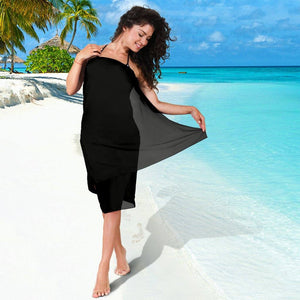 Classic Black Chiffon Beach Cover Up | Sarong | Pareo