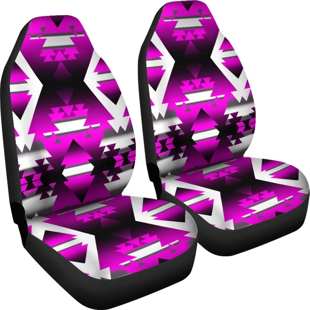 Pink Winter Camp Car Seat Covers