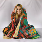 Earthy Diamondback Hooded Blanket