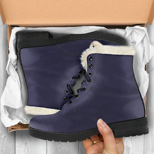 Eclipse Vegan Leather Boots with Faux Fur Lining