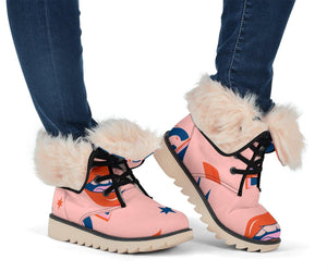 Girl Power Pink Polar Boots