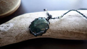 Green Jasper Macrame Necklace | Stone of Healing Crystal