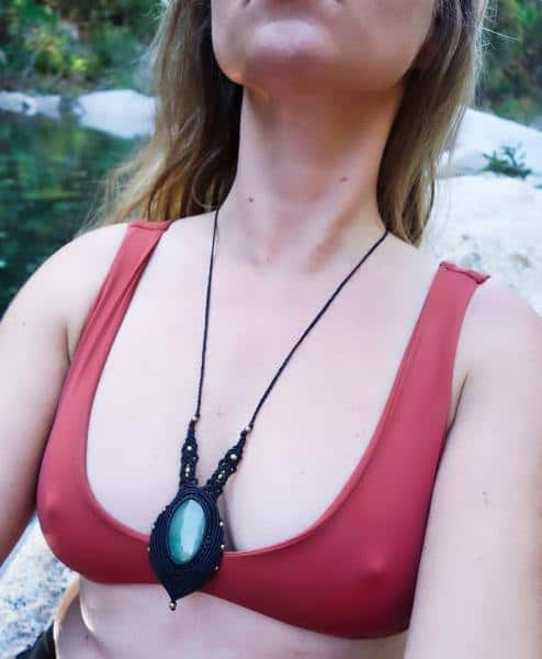 Nephrite Jade Macrame Necklace | Shakti Design | Stone of Fidelity