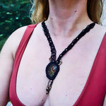 Ammonite Fossil Macrame Necklace | Shakti Design - Manifestie