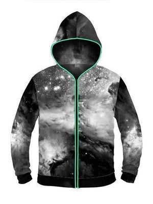 Black & White Cosmos Light Up Hoodie