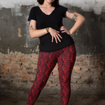 Moody Rose Premium Plus Size Yoga Leggings - Manifestie