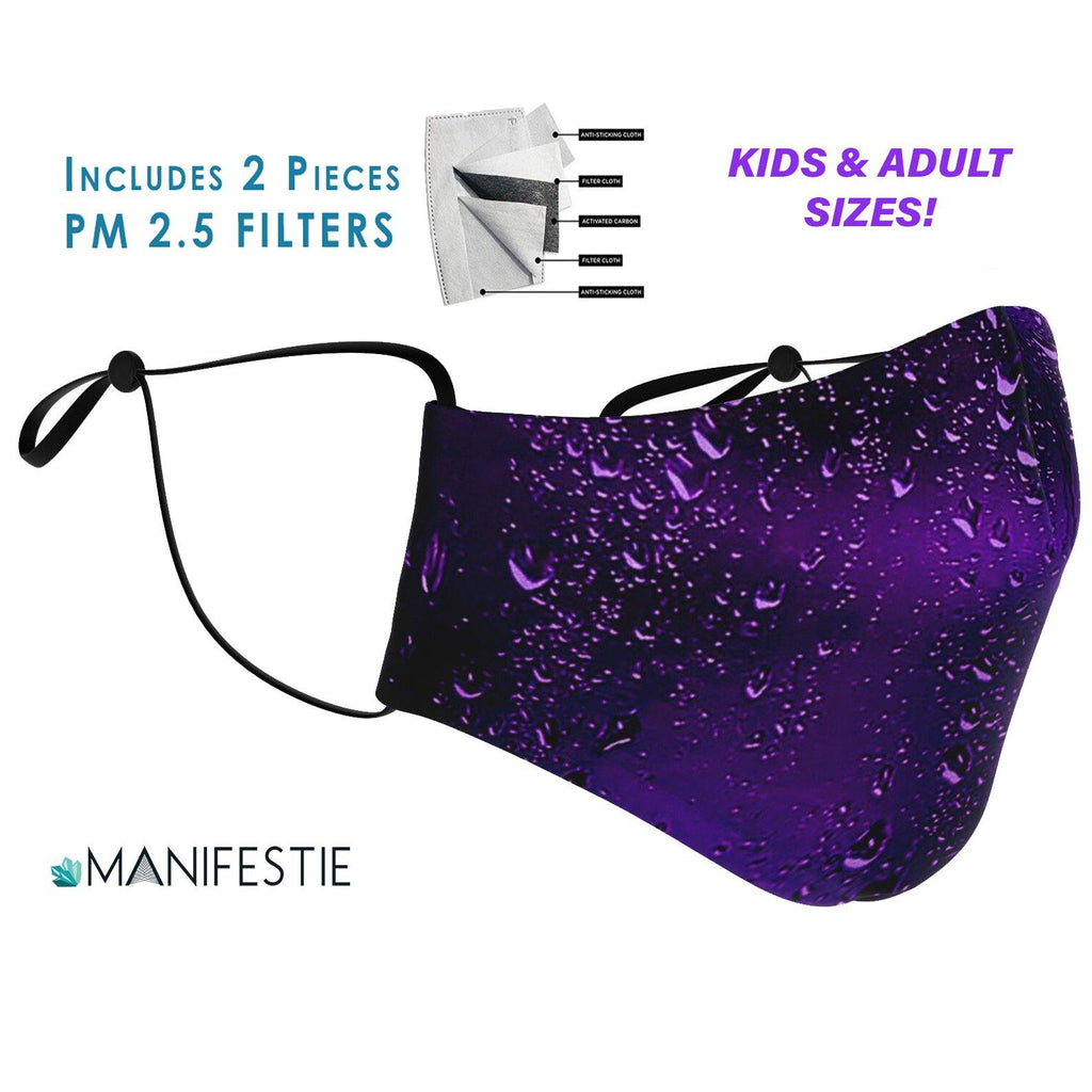 Purple Rain FACE MASK with 2pcs PM 2.5 carbon filters - Manifestie