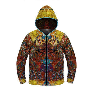 LIQUID NIRVANA by David Fettner LIGHT UP HOODIE