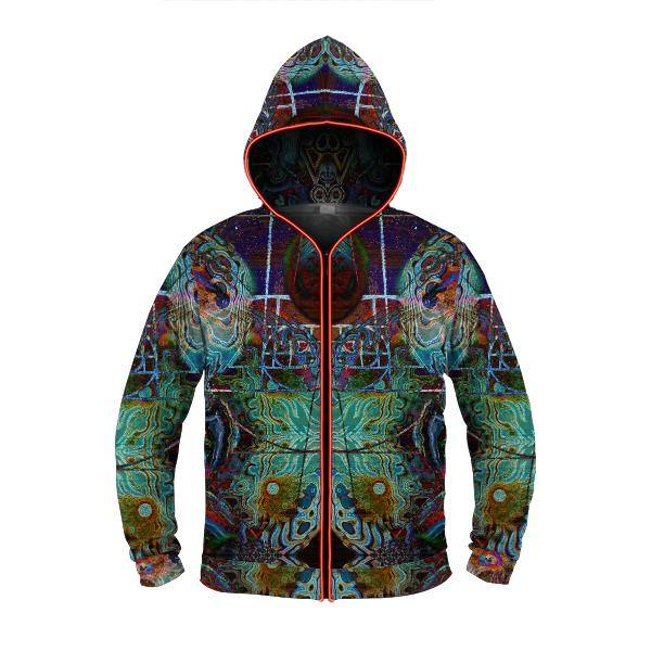FIBONACCIS FANTASY by David Fettner LIGHT UP HOODIE