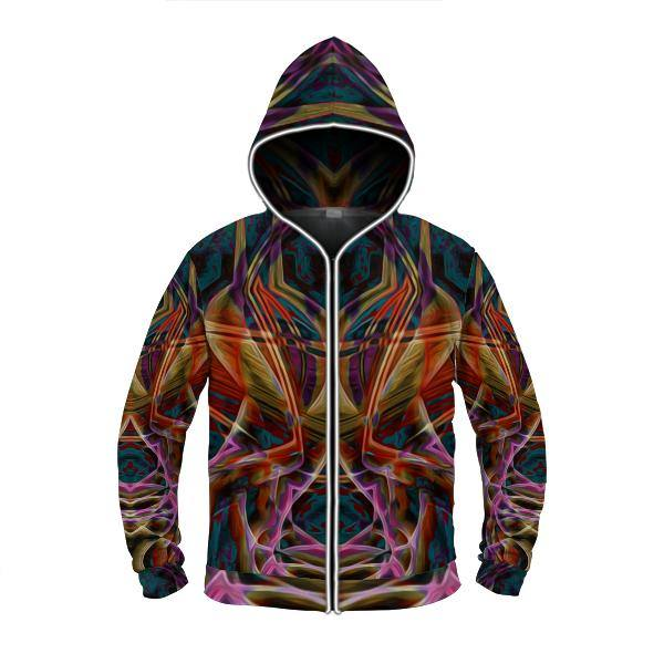 MIDNIGHT GAZE by David Fettner LIGHT UP HOODIE