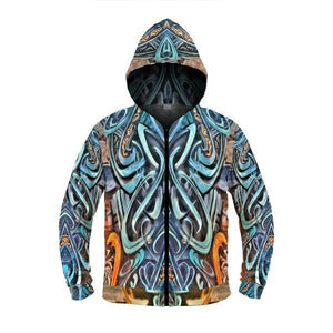 NIGHT SPELL by DAVID FETTNER ZIP UP HOODIE