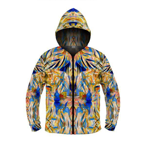 STAR CHASER by DAVID FETTNER ZIP UP HOODIE