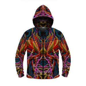 MIDNIGHT GAZE ZIP UP HOODIE