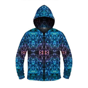 sea anemone zip up hoodie