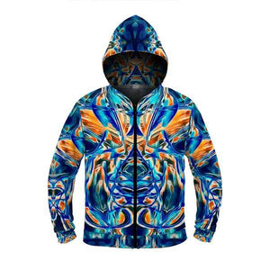 BLUE LOVERS GAZE  ZIP UP HOODIE