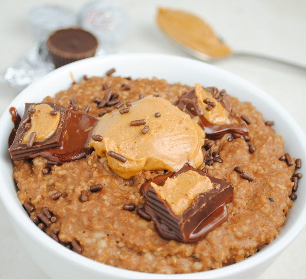 Chocolate Peanut Butter Cup Protein Oatmeal