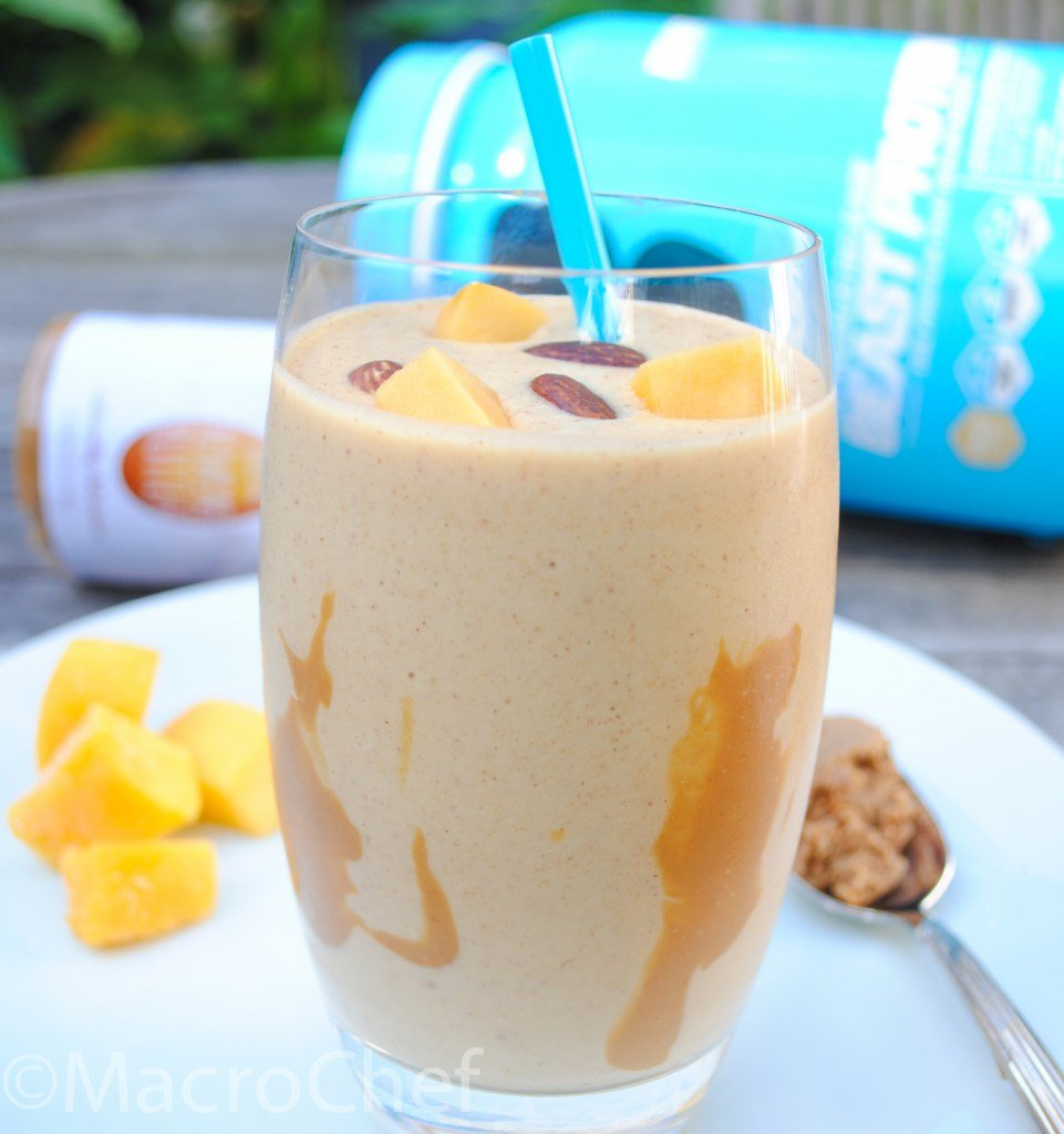 Creamy Mango Almond Butter Protein Smoothie - Beast Sports Nutrition