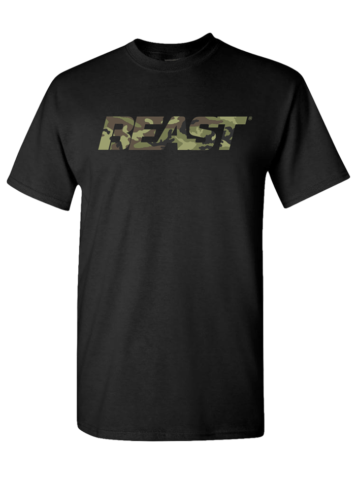 BEAST Camo Black Shirt - Beast Sports Nutrition
