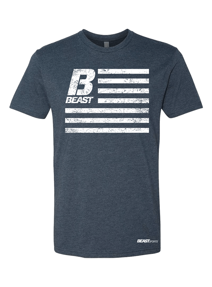 BEAST Navy Flag Shirt - Beast Sports Nutrition