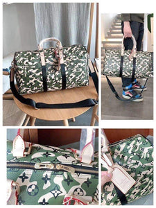 LV Camouflage Duffle Bag