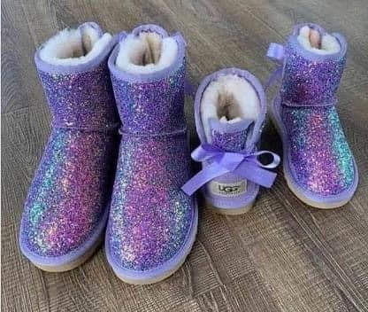 Toddler/youth glitter uggs