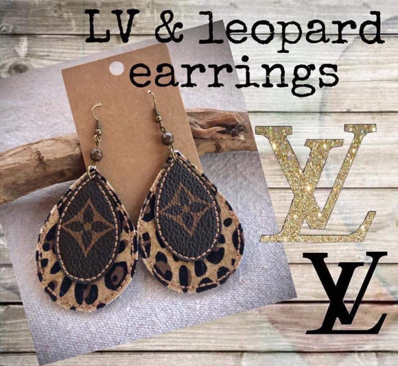 LV & Leopard Earrings