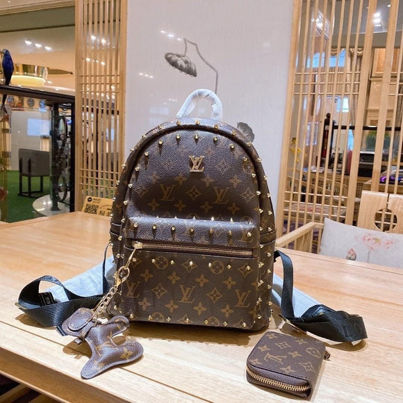 Lv stud backpack