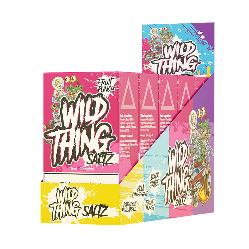 Wild Thing Saltz Fruit Punch 10ml Nicotine Salt Eliquid