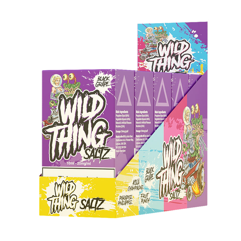 Wild Thing Saltz Black Grape 10ml Nicotine Salt Eliquid