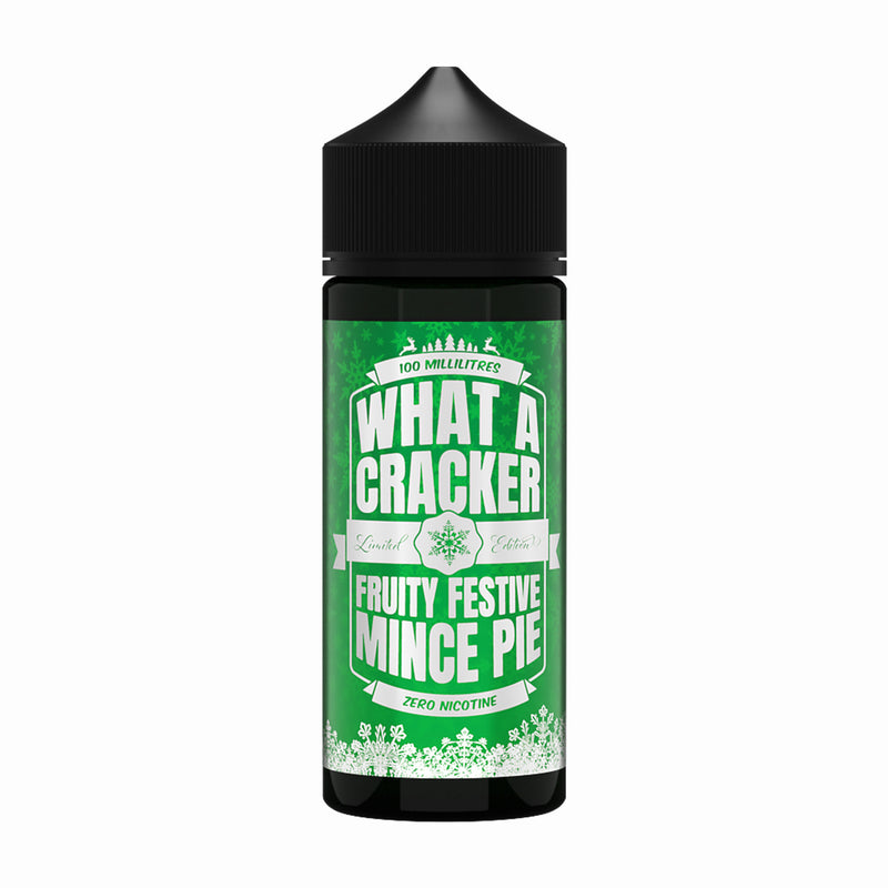 What A Cracker Fruity Festive Mince Pie 100ml Shortfill Eliquid