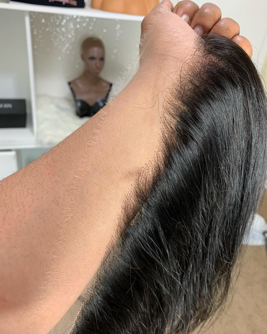 Sultry Satin Straight Lace Frontals