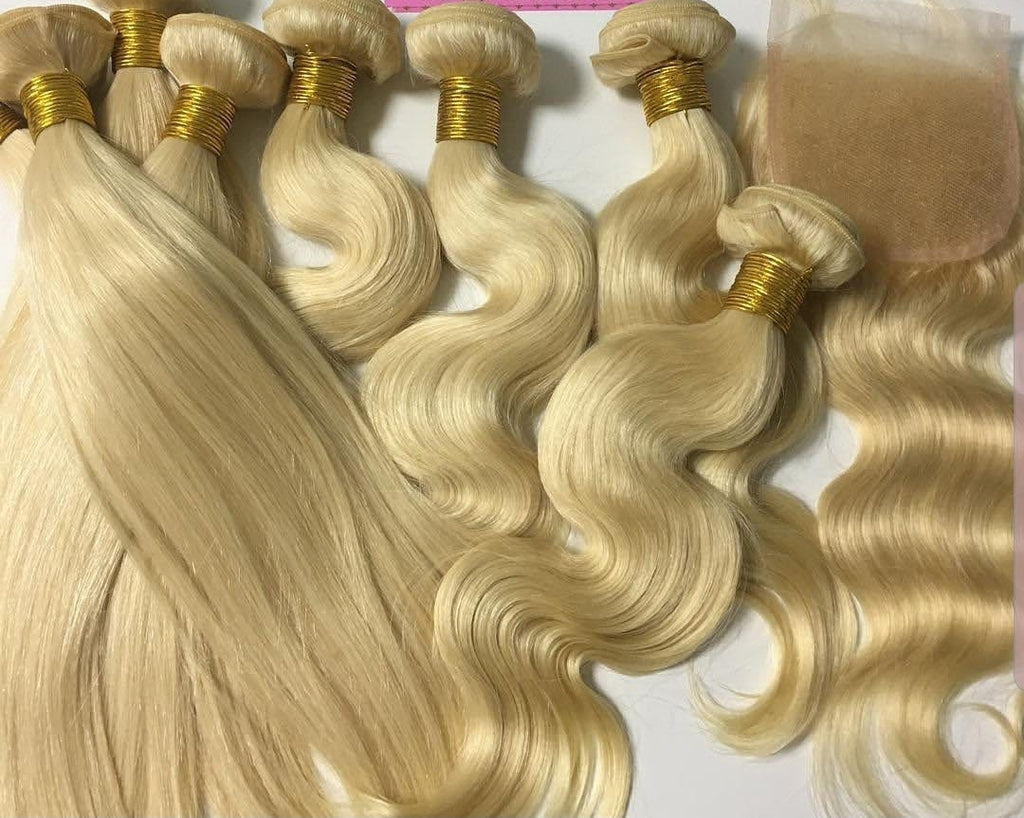Blonde Bombshell Lace փակումը