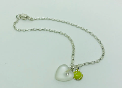 Tennis Has My Heart Bracelet