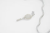 Tennis Racket Charm with Swarvoski crystal