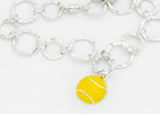 Flushed Tennis Ball Bracelet