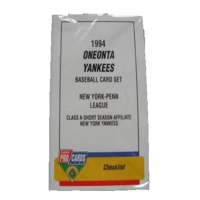 Connecticut Tigers 1994 Oneonta Yankees Team Set