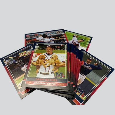 Mississippi Braves 2019 Team Card Set