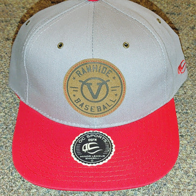 Visalia Rawhide Gray Denim Adjustable Cap with Leather Patch by OC Sports