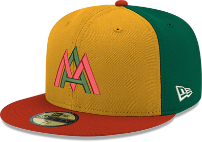 Miami Amigos Hometown Collection New Era 59FIFTY Fitted Cap - Yellow/Green/Red