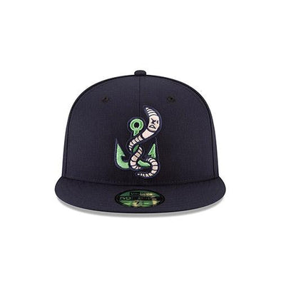 Gwinnett Stripers New Era Alternate Worm On Field 5950 Cap- Navy