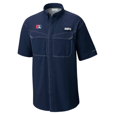 MiLB Columbia Short Sleeve Blue Fishing Shirt