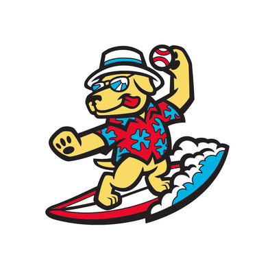 Clearwater BeachDogs Logo Pin