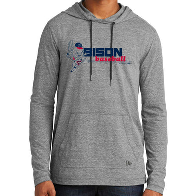 Mahoning Valley Scrappers Grey Bat Hoodie