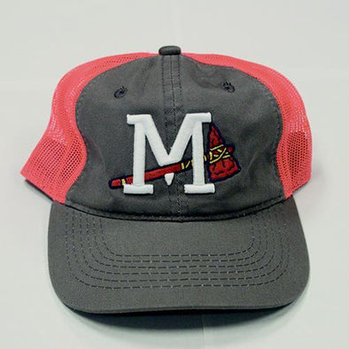 Mississippi Braves Home Cap Grey & Red