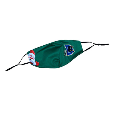 Durham Bulls Green Santa Face Mask