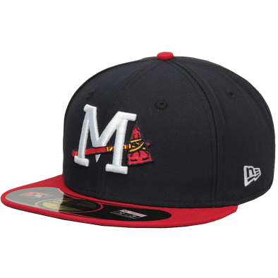Mississippi Braves Authentic On Field LC 5950 Home Game Cap (Low Crown)