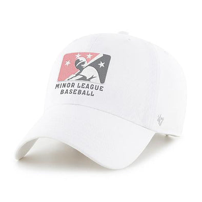 MiLB Pink and Grey Logo '47 Adjustable Hat - White