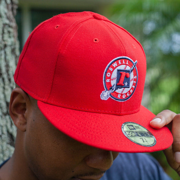 Roswell Rockets Hometown Collection New Era 59FIFTY Fitted Cap - Red