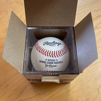 Vermont Lake Monsters Official Minor League Baseball w/ Ball Qube