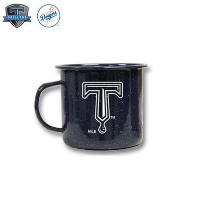 Tulsa Drillers 18oz Campfire Tin Mug Navy